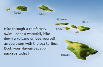Maui - Hike through a rainforest, swim under a waterfall, bike down a valcano or lose yourself as you swim with the sea turtles.  Book your Maui Vacation package today!