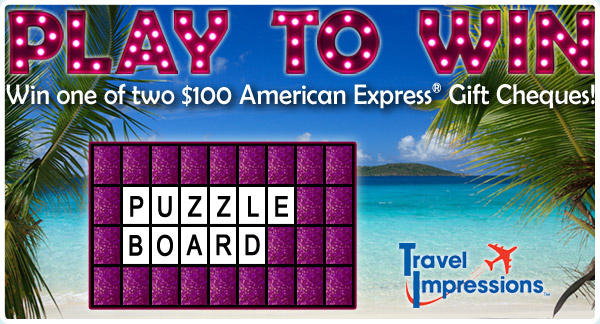 Win a $100 American Express(R) Gift Cheque